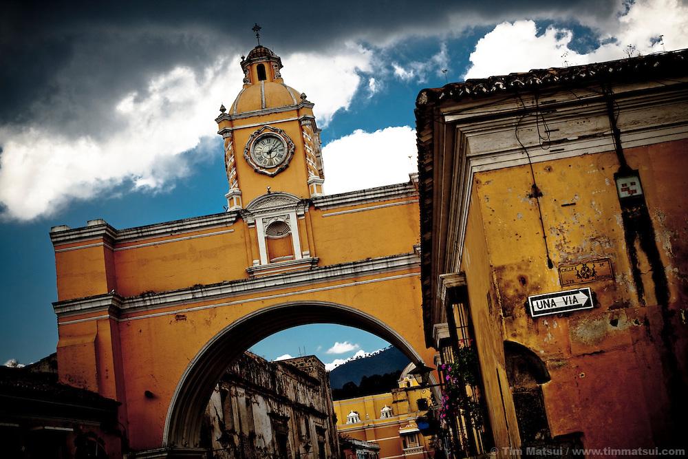 La Calle del Arco in Antigua, Guatemala.