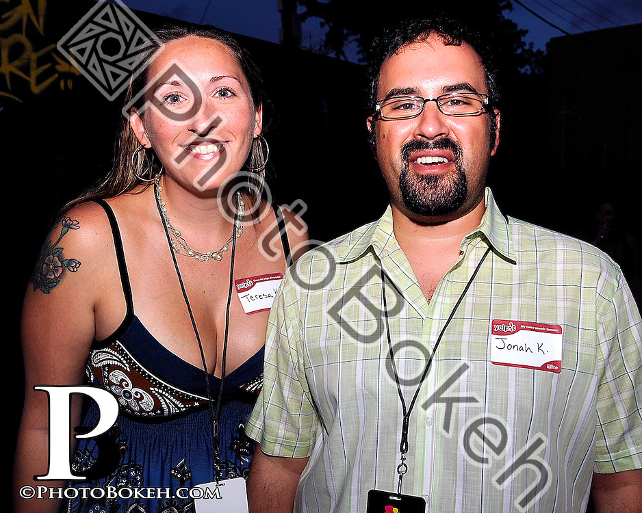 2011 September 22 - The Stage hosted a combined Yelp Elite and Vitamin Water Uncapped event featuring the art of Abstrk and the swimwear designed by Nadia Dayan and Camelo Pradus with additional entertainment provided by Chalk Miami. (Photo by: www.photobokeh.com / Alex J. Hernandez)