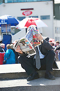 29/07/2013 Punter   at the first evening of the Galway Races. Picture :  Andrew Downes.