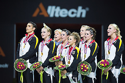Podium(GER) - Squad Final Vaulting - Alltech FEI World Equestrian Games™ 2014 - Normandy, France.<br /> © Hippo Foto Team - Jon Stroud<br /> 05/09/2014