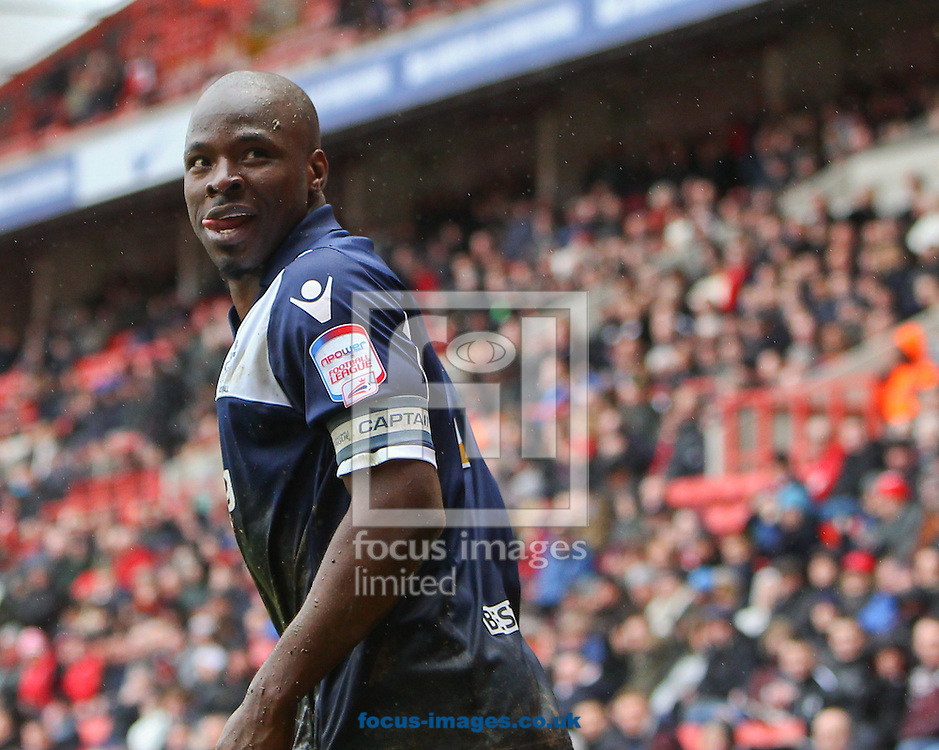 Picture by John  Rainford/Focus Images Ltd +44 7506 538356.16/03/2013.Danny Shittu of Millwall during the npower Championship match at The Valley, London.