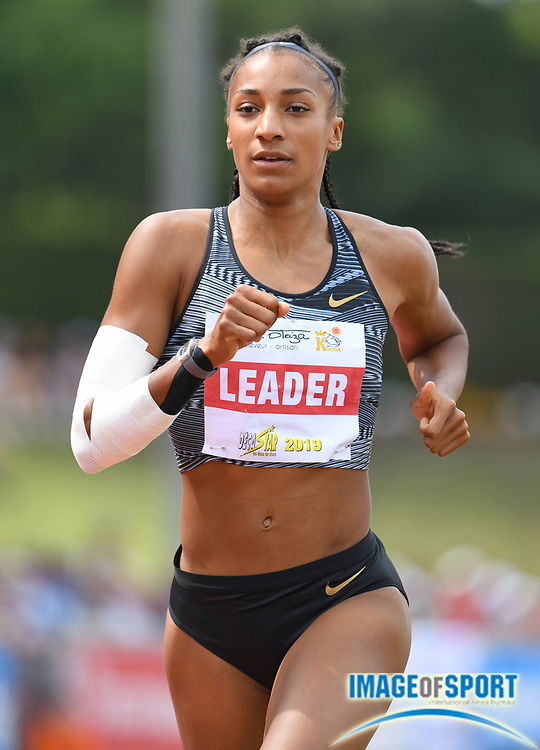 Nafi Thiam aka Nafissatou Thiam (BEL) runs 2:20.46 in the heptathlon 800 during the DecaStar meeting, Saturday, June 23, 2019, in Talence, France. Thiam won with 6,819 points. (Jiro Mochizuki/Image of Sport via AP)