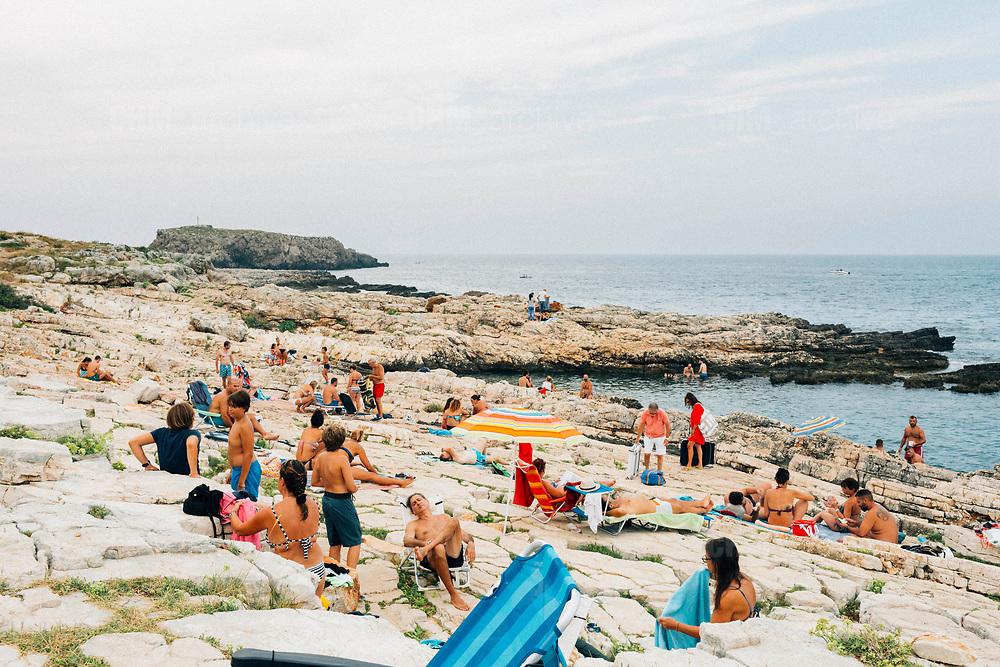 Daily life at Cala Port'Alga in Polignano (BA) on 31 August 2019. Christian Mantuano / OneShot