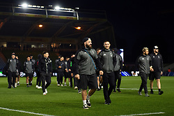 Harlequins players leave the field prior to the match - Mandatory byline: Patrick Khachfe/JMP - 07966 386802 - 23/11/2019 - RUGBY UNION - The Twickenham Stoop - London, England - Harlequins v Bath Rugby - Heineken Champions Cup