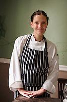 Elena Reygadas, chef propietaria de Rosetta descansa un momento de la agitado ritmo de su restaurant. Elena Reygadas, chef owner from Rosetta, chills for a moment from the hectic pace of her restaurant.