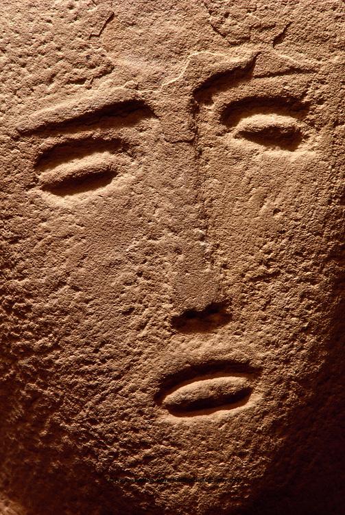 Gravestone from Hijaz, Anthropomorphic stele,  400 B.C., National Museum of Saudi Arabia, Riyadh