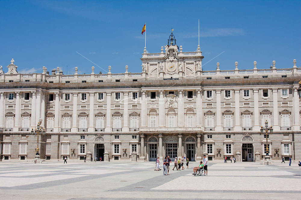 palacio real royal palace in madrid spain