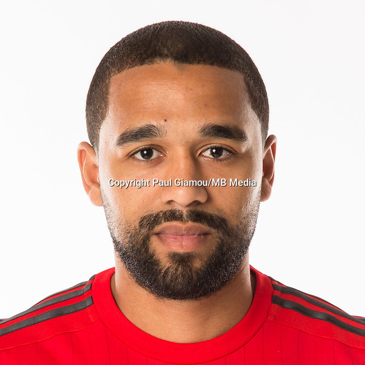 Feb 16, 2015; Toronto FC player Luke Moore poses for a photo.