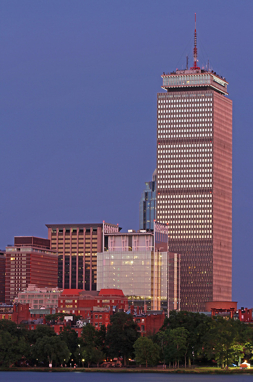 Boston architecture photography of the Back Bay skyline showing historic and modern architectural landmarks such as the Prudential Center and the newly constructed glass building at 330 Beacon Street Corporation on a beautiful night at twilight.<br /> <br /> This Boston Back Bay architecture photo is available as museum quality photography prints, canvas prints, acrylic prints or metal prints. Prints may be framed and matted to the individual liking and decorating needs: <br /> <br /> http://juergen-roth.pixels.com/featured/the-pru-and-prudential-center-and-newly-constructed-330-beacon-street-corporation-building-juergen-roth.html<br /> <br /> All Boston Back Bay pictures are available for photography image licensing at www.RothGalleries.com. Please contact me direct with any questions or request. <br /> <br /> Good light and happy photo making!<br /> <br /> My best,<br /> <br /> Juergen<br /> Image Licensing: http://www.RothGalleries.com <br /> Fine Art Prints: http://juergen-roth.pixels.com<br /> Photo Blog: http://whereintheworldisjuergen.blogspot.com<br /> Twitter: https://twitter.com/naturefineart<br /> Facebook: https://www.facebook.com/naturefineart <br /> Instagram: https://www.instagram.com/rothgalleries