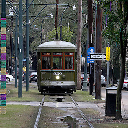 Jan 30, 2013; New Orleans, LA, USA; A street car is seen  as it passes on the historic St. Charles Avenue street car line. Super Bowl XLVII will be played between the San Francisco 49ers and the Baltimore Ravens on February 3, 2013 at the Mercedes-Benz Superdome. Mandatory Credit: Derick E. Hingle-USA TODAY Sports