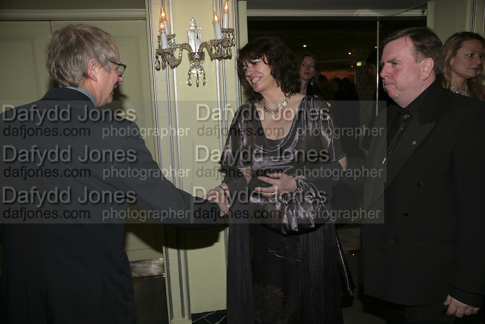 Ken Loach, Shane and Timothy Spall, Cocktail party before the  27th Annual London Film Critics' Circle Awards. In aid of the NSPCC. Dorchester. 8 February 2007.  -DO NOT ARCHIVE-© Copyright Photograph by Dafydd Jones. 248 Clapham Rd. London SW9 0PZ. Tel 0207 820 0771. www.dafjones.com.