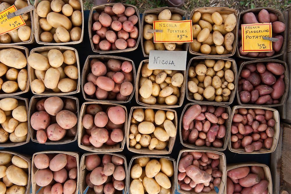 potatoes at farmers market