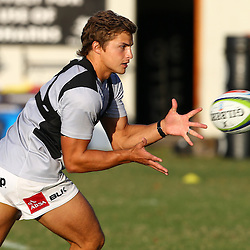 DURBAN, SOUTH AFRICA - MAY 03: Patrick Lambie during the Cell C Sharks training session at Growthpoint Kings Park on May 03, 2016 in Durban, South Africa. (Photo by Steve Haag/Gallo Images)