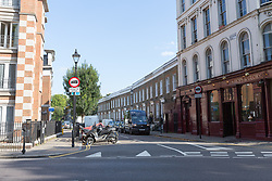 © Licensed to London News Pictures. 25/08/2017. LONDON, UK.  General view of Mitchison Road, off Essex Road in Islington. A 27 year old man was stabbed on Thursday evening and later died in hospital. Photo credit: Vickie Flores/LNP