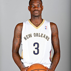 Sep 30, 2013; Metairie, LA, USA; New Orleans Pelicans guard Anthony Morrow (3) poses for a portrait at Pelicans Practice Facility. Mandatory Credit: Derick E. Hingle-USA TODAY Sports