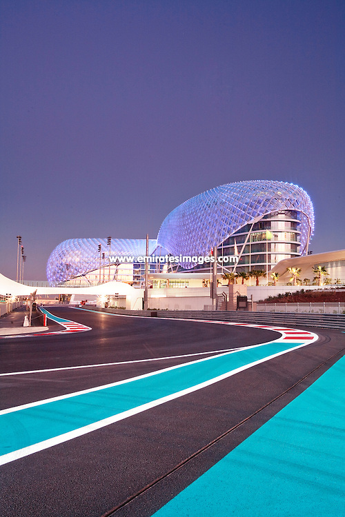 Yas Hotel and Yas Marina Circuit in Abu Dhabi