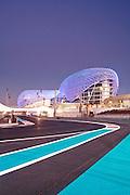 Yas Hotel and Yas Marina Circuit in Abu Dhabi