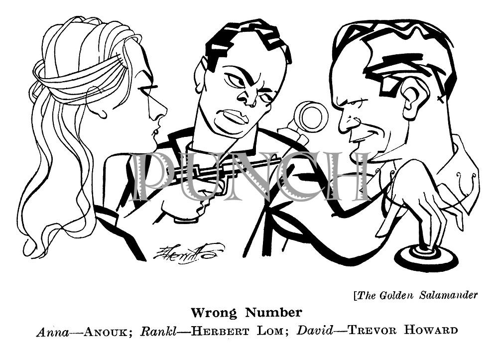 The Golden Salamander ; Herbert Lom ; Trevor Howard and Anouk