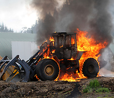 Rotorua-Frontend loader goes up in flames