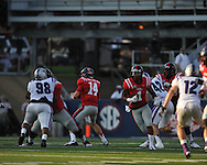 Ole Miss quarterback Bo Wallace (14) at Vaught-Hemingway Stadium in Oxford, Miss. on Saturday, September 1, 2012. (AP Photo/Oxford Eagle, Bruce Newman)..