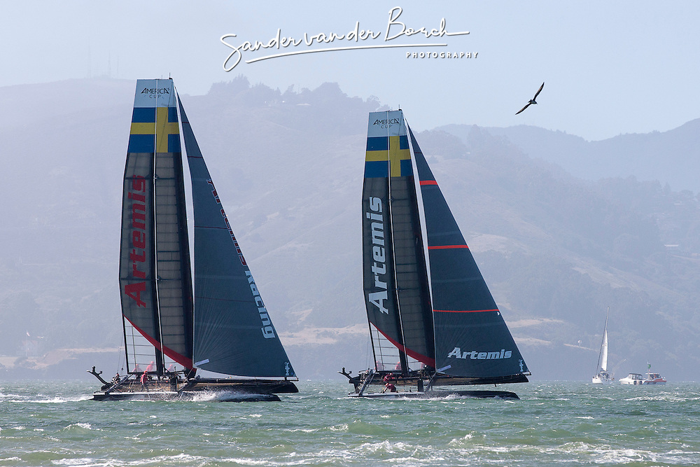 Two fleet races, August 24th, 2012, AC45 World Series San Francisco.