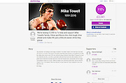"Boxing veteran Ricky Hatton MBE has set up a JustGiving fund to raise £20,000 for Towell's family.<br /> <br /> On the page, which generated almost £7,000 within an hour, he wrote: ""Mike Towell lost his life doing either what he loved or looking after his family - or both.<br /> ""A young boy and partner are left behind let's make sure they are looked after.""<br /> <br /> https://www.justgiving.com/crowdfunding/IronMikeTowell<br /> ©Exclusivepix Media"