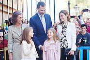 040515 Spanish Royals Attend Easter Mass in Palma de Mallorca