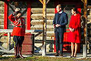 The Duke and Duchess of Cambridge watch as a mountie salutes during their 2016 tour of B.C. and the Yukon.