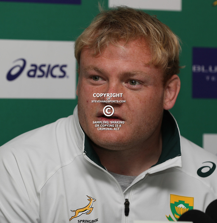 DURBAN, SOUTH AFRICA, 7 October, 2016 - Adriaan Strauss during the South African (Springbok) Captain's media conference at Kashmir Resturant in Durban, South Africa. (Photo by Steve Haag)