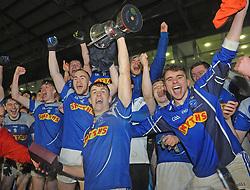 Claremorris U21 captain James McCormack with his team mates celebrate their U21 victory at MacHale Park on saturday evening last.<br />Pic Conor McKeown