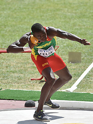 28-08-2015 CHN: IAAF World Championships Athletics day 7, Beijing<br /> Shot put Decathlon / Kurt Felix GRN<br /> Photo by Ronald Hoogendoorn / Sportida