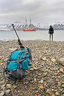Alberto Carrera, Expedition Boat and Arctic Guide, Billefjord, Arctic, Spitsbergen, Svalbard, Norway, Europe