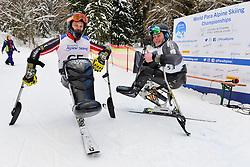 Super Combined and Super G, OATWAY Kurt, LW12-1, CAN, PEDERSEN Jesper, LW11, NOR at the WPAS_2019 Alpine Skiing World Championships, Kranjska Gora, Slovenia