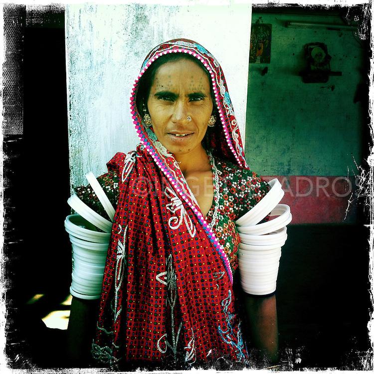 traditional dressed , Rabari woman in Rajahstan