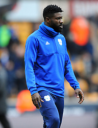 Bruno Ecuele Manga of Cardiff City warms up- Mandatory by-line: Nizaam Jones/JMP - 02/03/2019 - FOOTBALL - Molineux - Wolverhampton, England -  Wolverhampton Wanderers v Cardiff City - Premier League