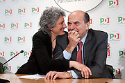 2013/01/24 Roma, il PD presenta i candidati alle politiche provenienti dal mondo dello sport. Nella foto Anna Paola Concia e Pier Luigi Bersani..Democratic Party presents its candidates coming from sports world. In the picture Anna Paola Concia and Pier Luigi Bersani.