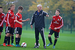 NEWPORT, WALES - Monday, November 2, 2015: Wales' Elite Performance Director Ian Rush during a training session ahead of the Under-16's Victory Shield International match at Dragon Park. (Pic by David Rawcliffe/Propaganda)