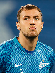 February 21, 2019 - Saint Petersburg, Russia - Artem Dzyuba of FC Zenit Saint Petersburg looks on during the UEFA Europa League Round of 32 second leg match between FC Zenit Saint Petersburg and Fenerbahce SK on February 21, 2019 at Saint Petersburg Stadium in Saint Petersburg, Russia. (Credit Image: © Mike Kireev/NurPhoto via ZUMA Press)