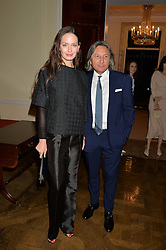 LEON & YANA MAX at a party to kick off London Fashion Week hosted by US Ambassador Matthew Barzun and Mrs Brooke Brown Barzun with Alexandra Shulman in association with J.Crew hrld at Winfield House, Regent's Park, London on 18th September 2015.