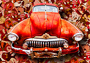 Pop art composite of a 1947 Buick Super Eight