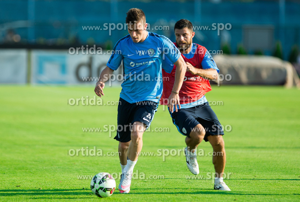 Benjamin Verbic and Bojan Jokic during practice session of Slovenian National Football Team before Euro 2016 Qualifications match against England, on June 10, 2015 in Kranj, Slovenia. Photo by Vid Ponikvar / Sportida