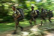 Eco Guards on patrol<br /> African Parks Congo<br /> Mbomo<br /> Odzala - Kokoua National Park<br /> Republic of Congo (Congo - Brazzaville)<br /> AFRICA