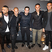 NLD/Amsterdam/20151110 - Life After Football Award 2015, Gregory van der Wiel, kapper Hanni Hanna