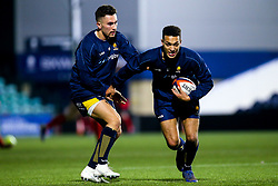 Jamal Clarke of Worcester Cavaliers and Nick David of Worcester Cavaliers - Mandatory by-line: Robbie Stephenson/JMP - 25/11/2019 - RUGBY - Sixways Stadium - Worcester, England - Worcester Cavaliers v Sale Jets - Premiership Rugby Shield