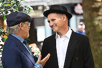 Mark Rylance, Steven Spielberg, The BFG - UK film premiere, Leicester Square Gardens, London UK, 17 July 2016, Photo by Richard Goldschmidt