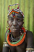 A woman from Jei tribe in Boma - Jonglei State in South Sudan. Photos by Martine Perret. 28 March 2013
