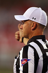 03 September 2016:  Referee Darren Haas. NCAA FCS Football game between Valparaiso Crusaders and Illinois State Redbirds at Hancock Stadium in Normal IL (Photo by Alan Look)