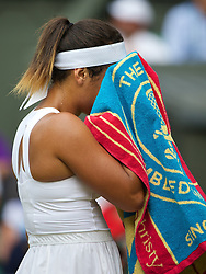 LONDON, ENGLAND - Thursday, June 26, 2014: Heather Watson (GBR) during the Ladies' Singles 2nd Round match on day four of the Wimbledon Lawn Tennis Championships at the All England Lawn Tennis and Croquet Club. (Pic by David Rawcliffe/Propaganda)