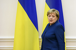 November 1, 2018 - Kiev, Ukraine - German Chancellor Angela Merkel during her meeting with Ukrainian Prime Minister Volodymyr Groysman (not pictured) in Kyiv, Ukraine, 01 November 2018. (Credit Image: © Maxym Marusenko/NurPhoto via ZUMA Press)