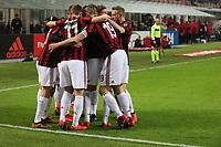 Milano - 10.12.2017 -   Milan-Bologna - Serie A 16a giornata   - nella foto:  Giacomo Bonaventura  abbracciato dai compagni dopo il gol
